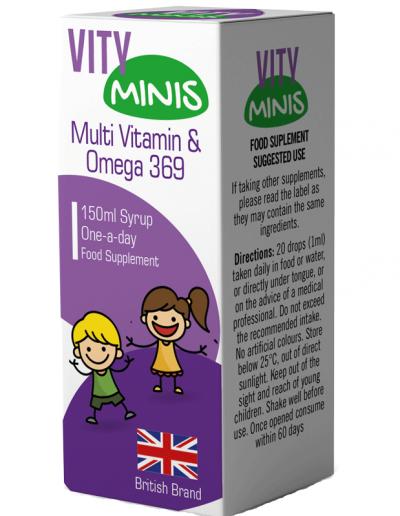 Vity Minis Syrup Multi Vitamin & Omega