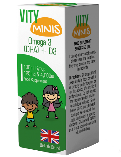 Vity Minis Syrup Omega & D3